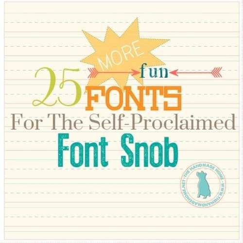 font snob club {may 2015}
