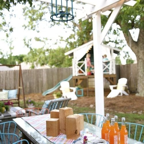 simple outdoor candles
