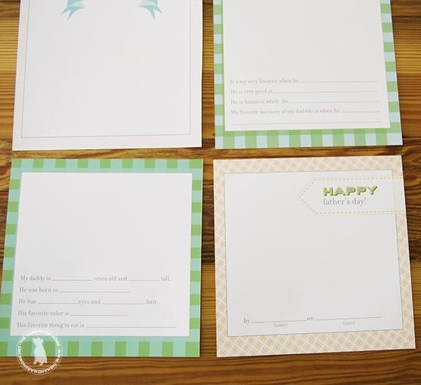 Easy fathers day gifts - printable