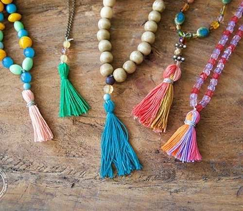 make your own tassel necklace