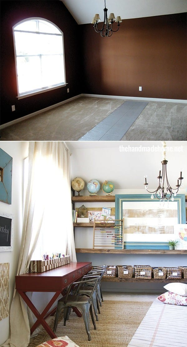 homeschool_room_before_and_after