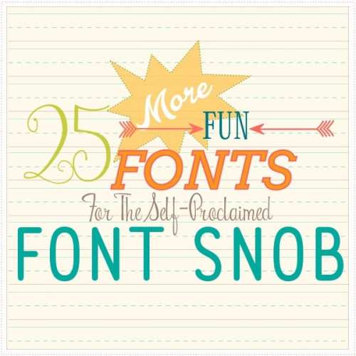the font snob club {february 2016}