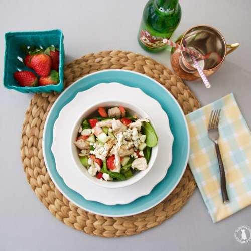 grilled chicken blue cheese salad