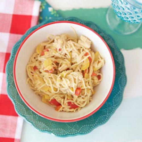 creamy thai chicken pasta