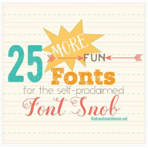 the font snob club {may 2016}