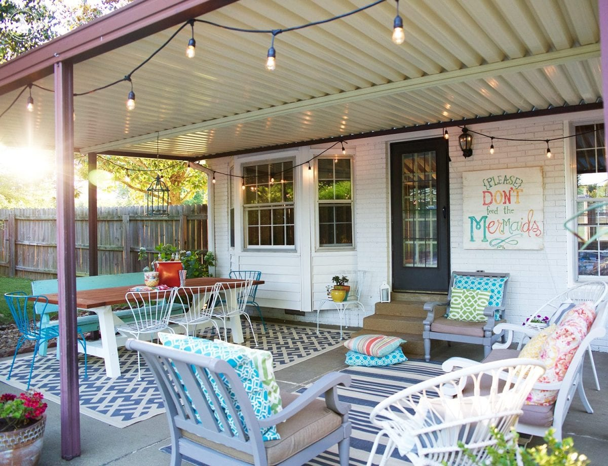 back porch makeover - The Handmade Home on Backdoor Patio Ideas id=46328