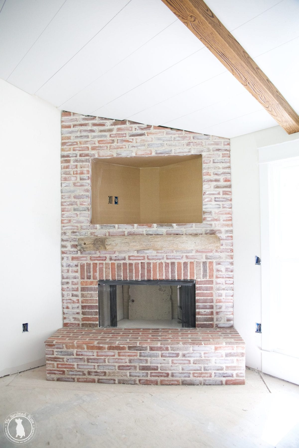 how to mortar rub brick on a fireplace the handmade home rh thehandmadehome net  what kind of mortar for stone fireplace