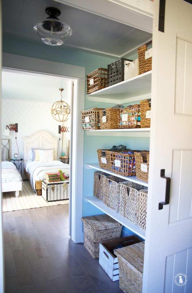 how to shiplap your ceilings closet walkthrough