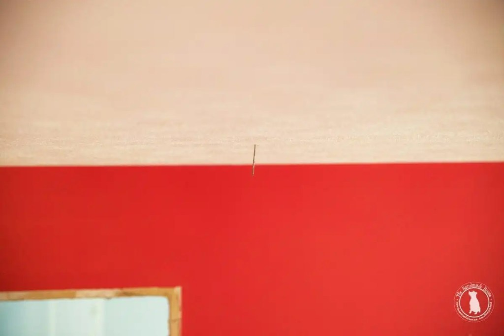 how to shiplap your ceiling - mark your ceiling