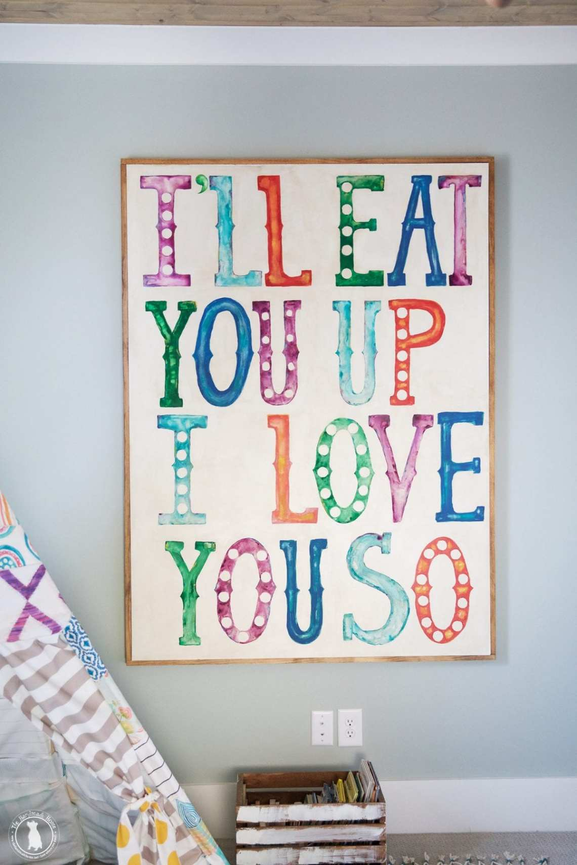 Download I'll eat you up I love you so painting - The Handmade Home