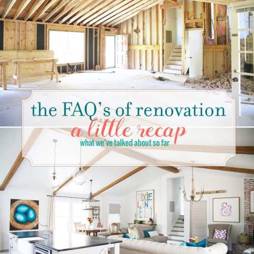 faqs of renovation – a little recap
