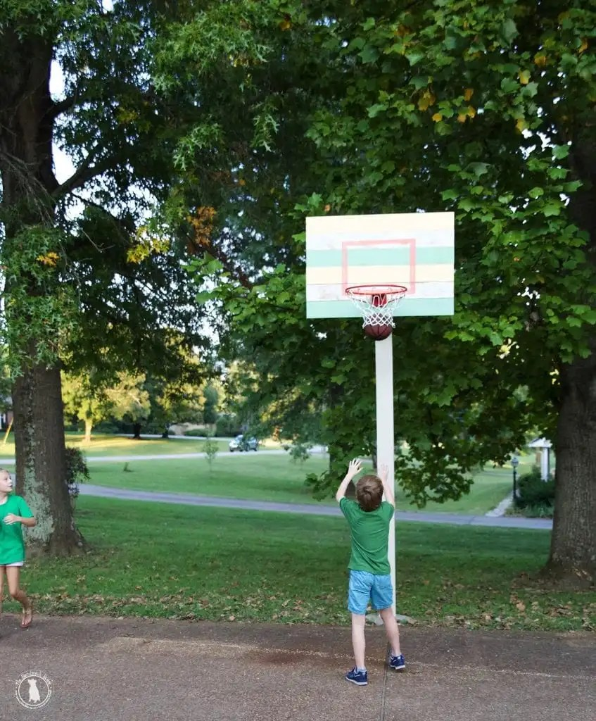 how to build a basketball goal
