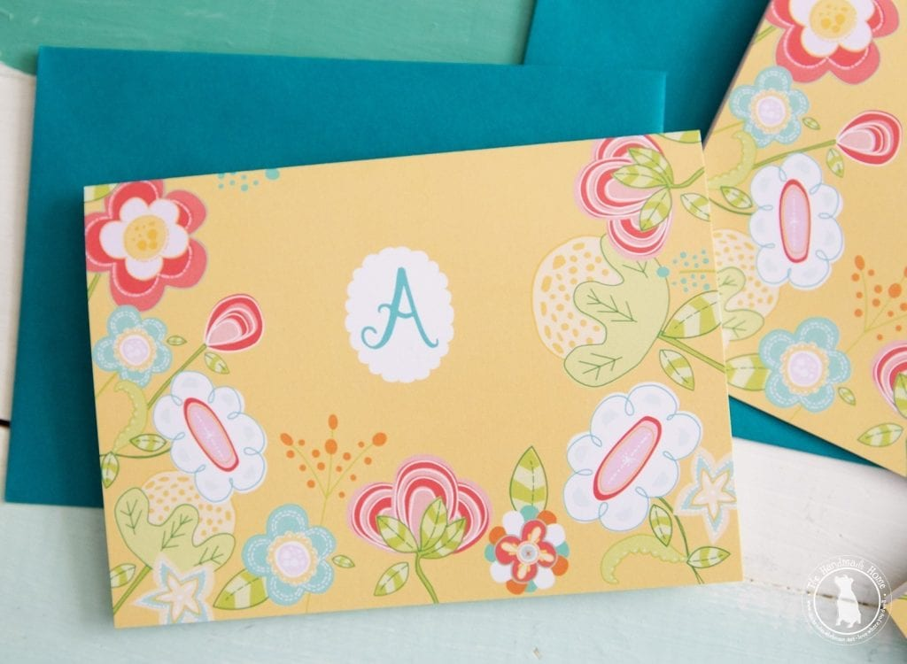 free monogram stationery