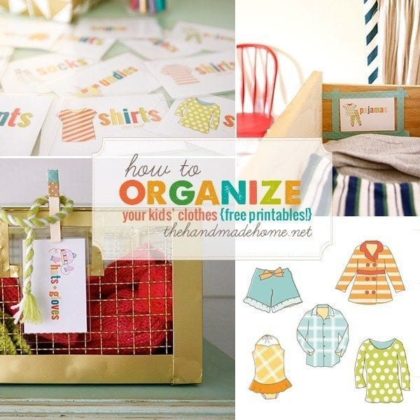 organization around the house- clothes