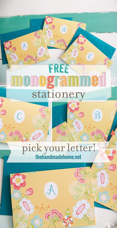 free monogram stationery - free printable monogram stationery