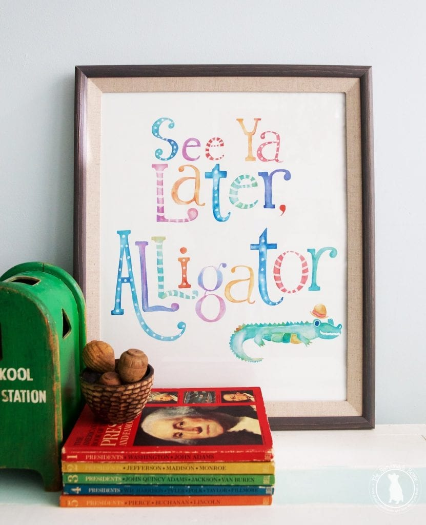 photo about See You Later Alligator Poem Printable named view ya afterwards alligator no cost printables - The Selfmade Household