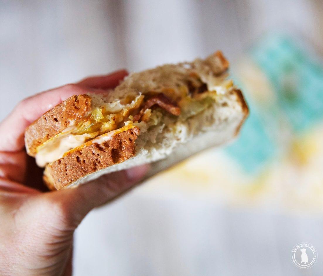 Gluten free sandwich {fried green tomato with comeback sauce}