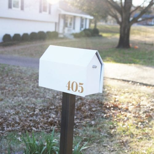 mailbox makeover – adding curb appeal