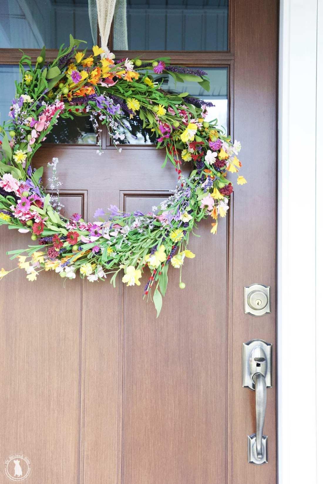 porch makeover wreath