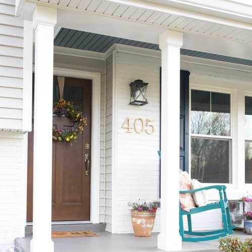 afco columns and the front porch makeover
