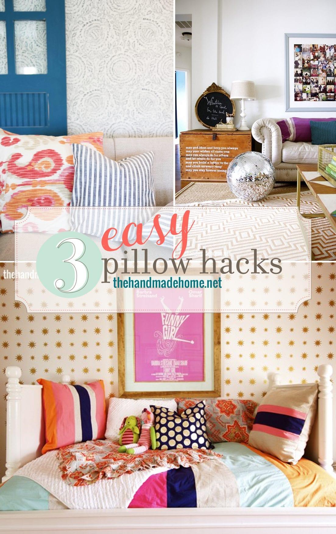 3 easy pillow hacks