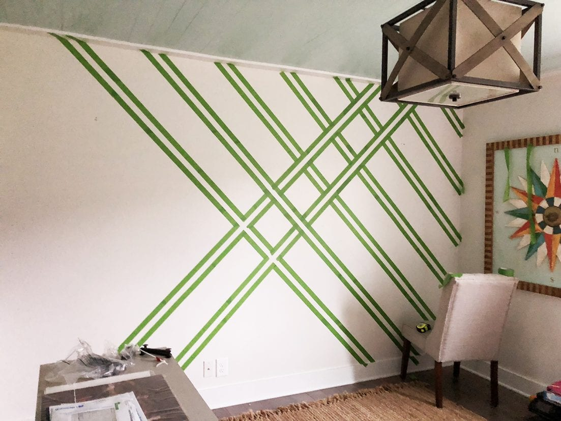 painting a plaid wall with frogtape® - The Handmade Home