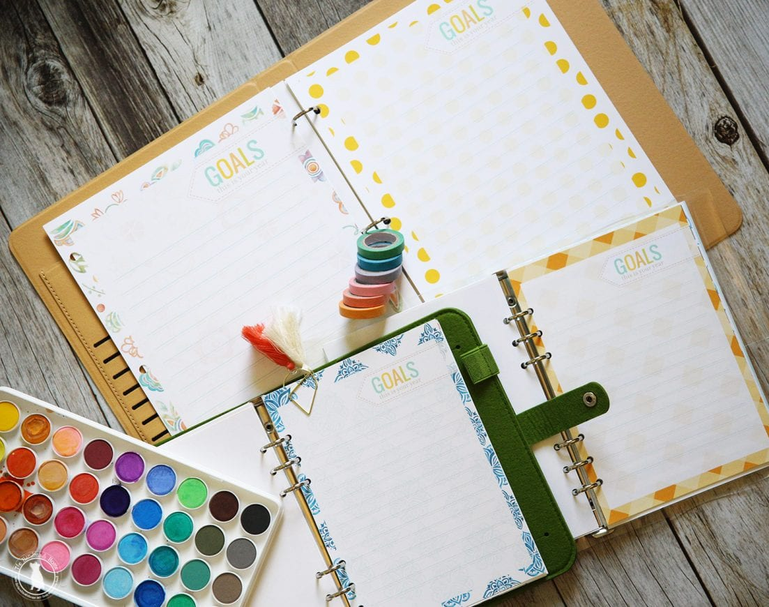 Free planner insert pages goals