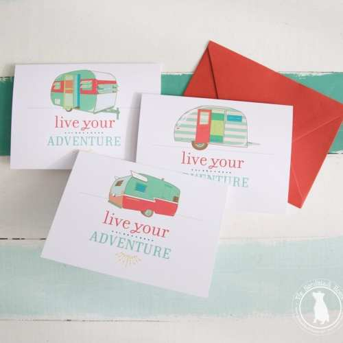 vintage camper free stationery {live your adventure}