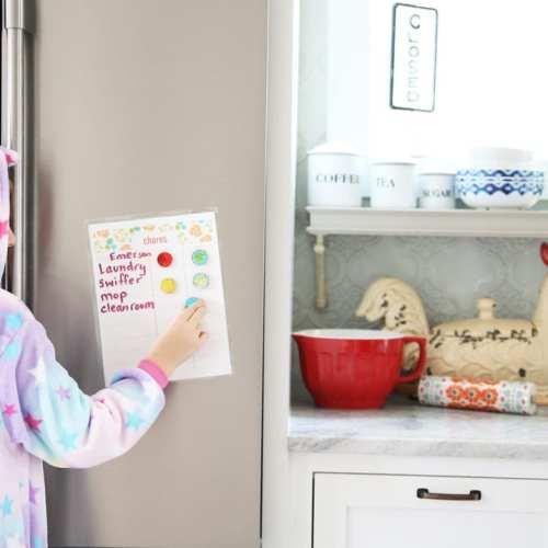 free kids magnetic chore chart