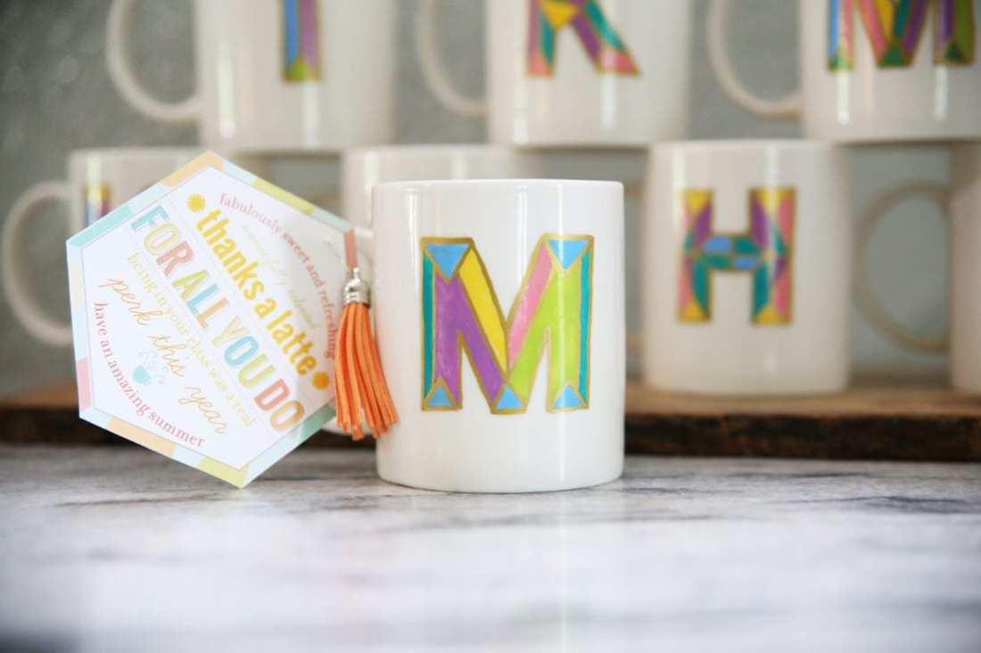 diy monogram coffee mug