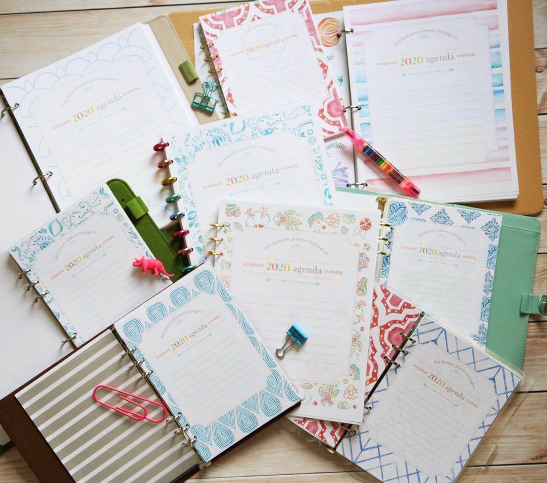 free planner cover pages