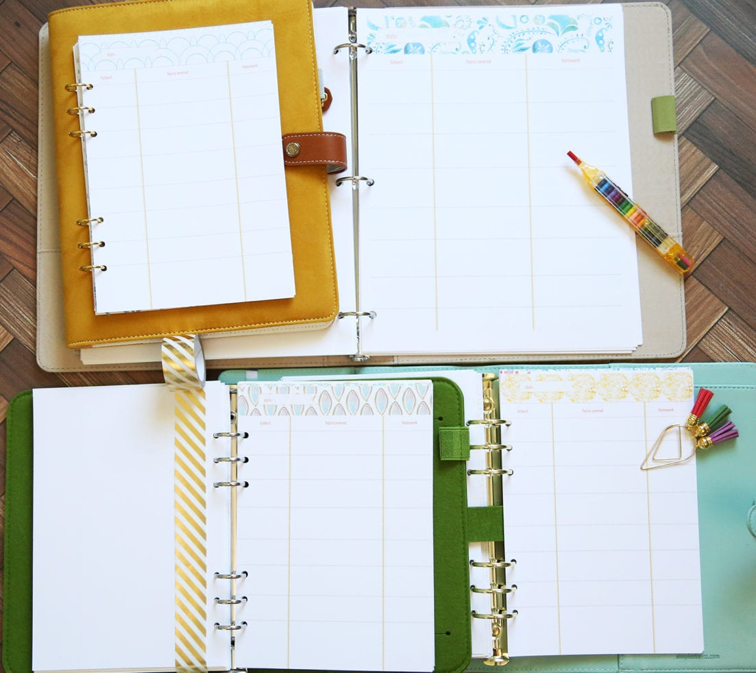 free teacher lesson planner pages