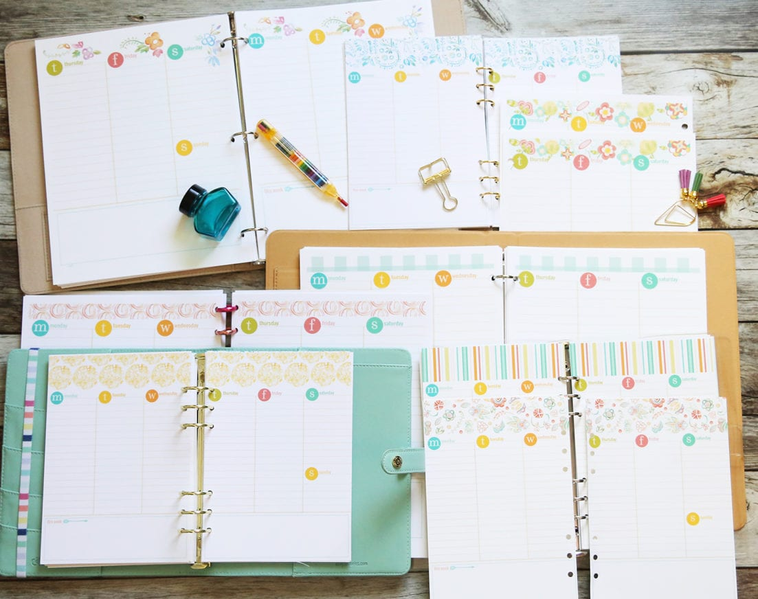planner week pages
