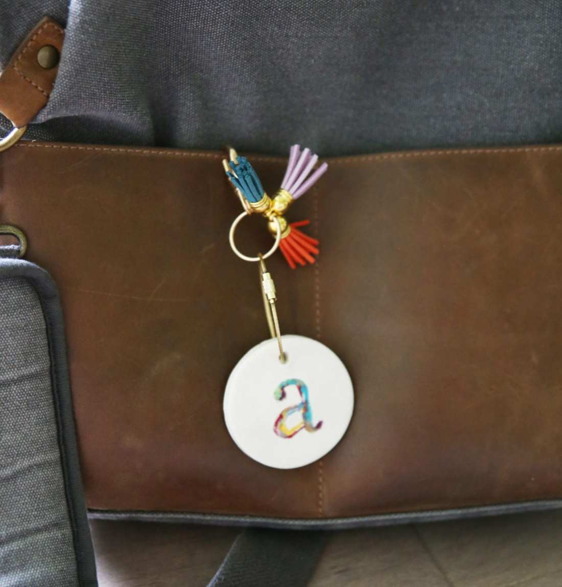 diy monogrammed keychains