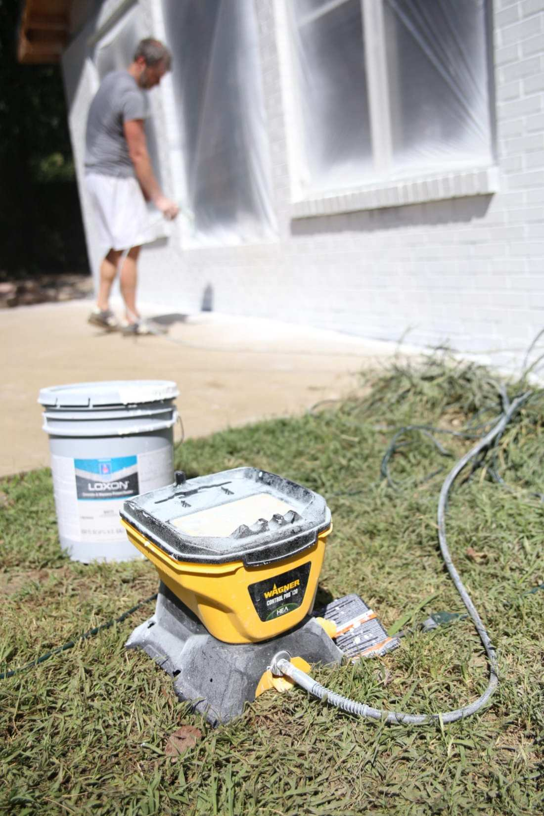 easiest way to paint a house
