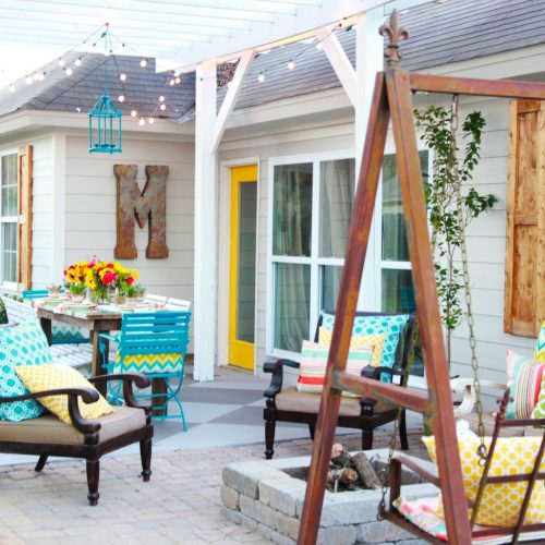 how to install a fire pit and patio