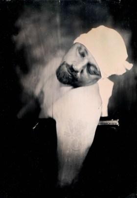 "Shane Balkowitsch, Marat, Wet plate collodion ambrotype, 7""x 5"" http://nostalgicglasswetplatestudio.zenfolio.com"