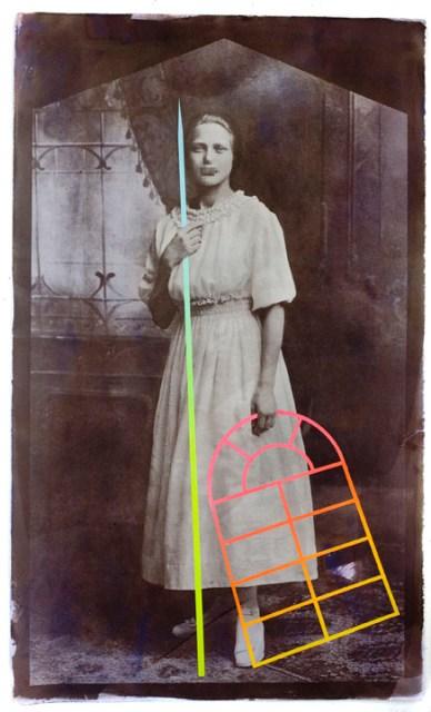 "Daniel W Coburn, Madonna of the Window, Salted paper print and mixed media, 36""x 24"" http://danielwcoburn.com"