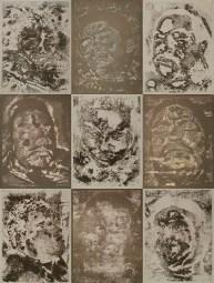 Miguel A. Aragón (Staten Island, NY) Retratos de Pérdida por el Narcotráfico Toned cyanotypes