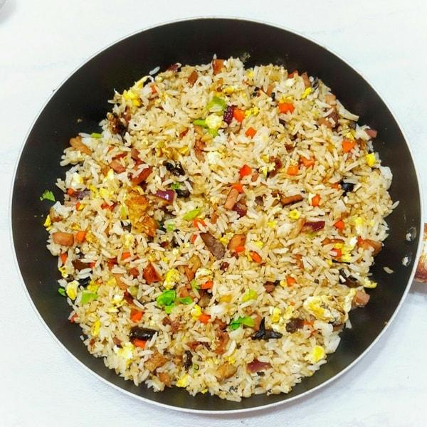 Grandma's Easy Chicken and Mushroom Fried Rice