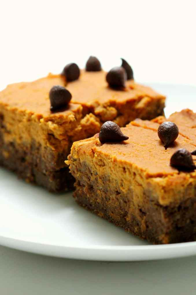 Pumpkin Peanut Butter Layer Brownies