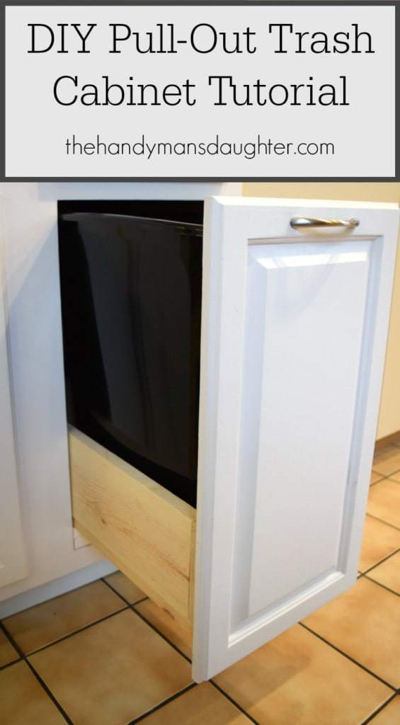 DIY Pull Out Trash Can Cabinet Tutorial The Handymans
