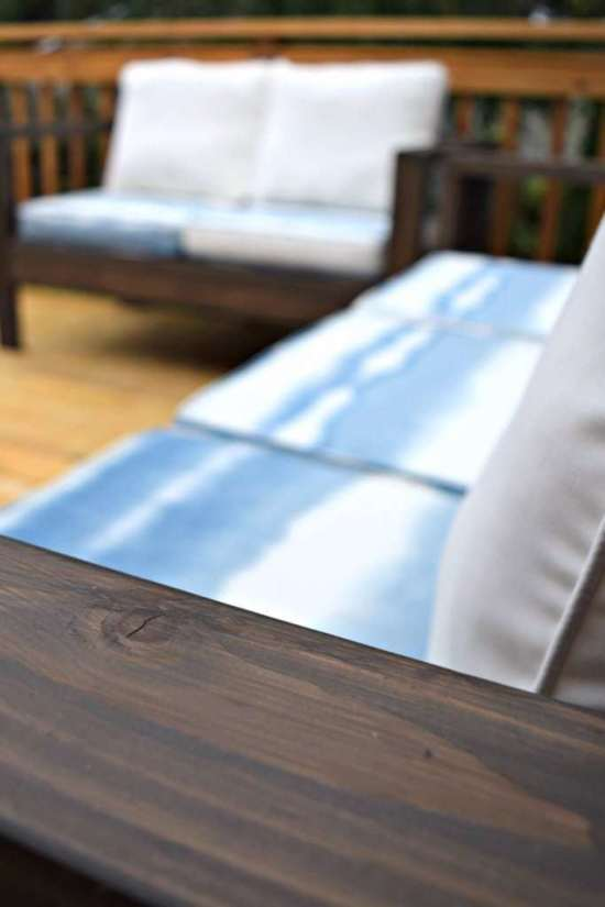 Make Your Own Outdoor Sofa And Loveseat For A Fraction Of