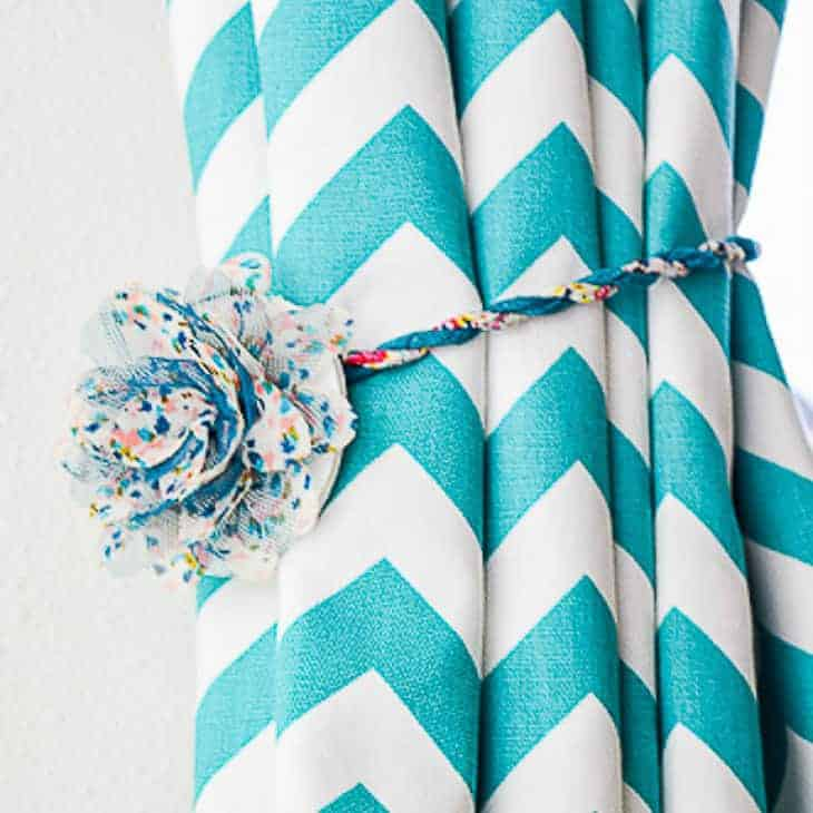how to make magnetic curtain tie backs