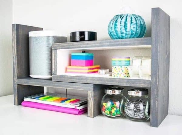 This adjustable desktop organizer can grow and shrink with your storage needs!
