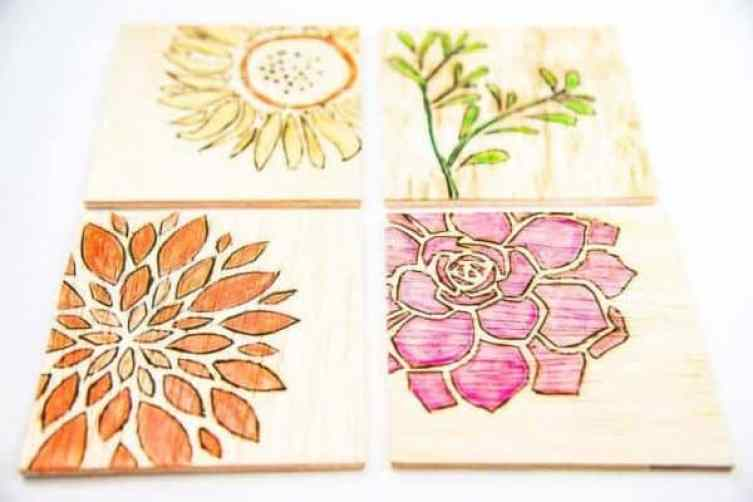 diy watercolor wooden coasters from the handymans daughter