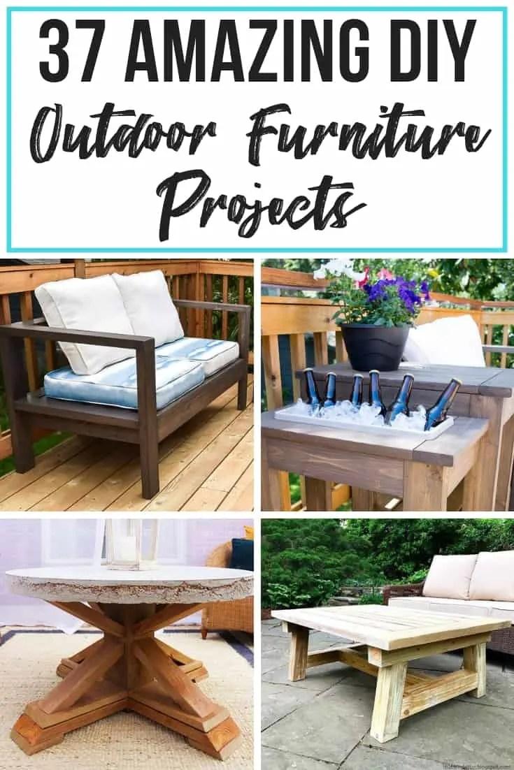 37 amazing diy outdoor furniture plans