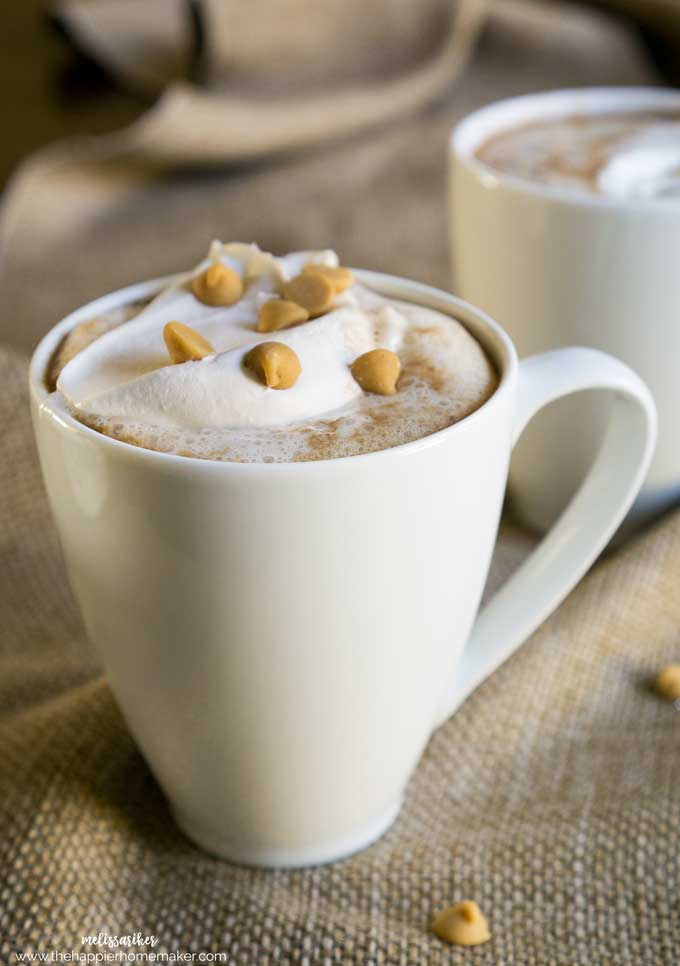 Peanut butter hot chocolate is a delicious, easy to make homemade variation on a classic winter treat! Perfect for warming up on chilly days!