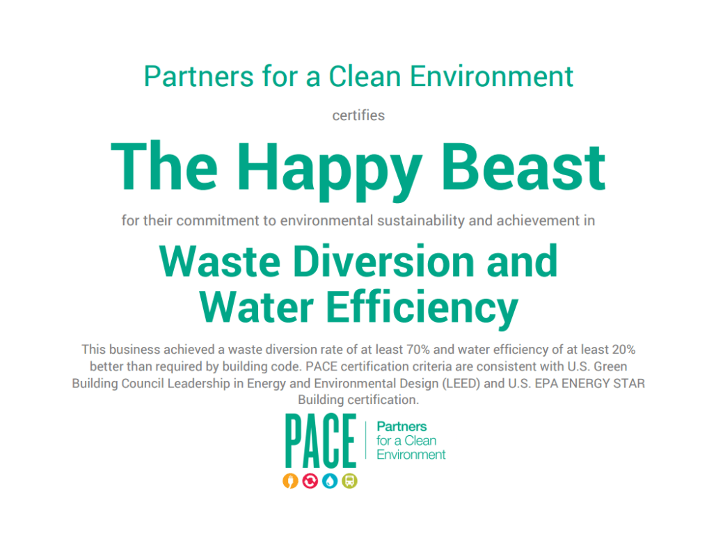 Pace Sustainability Certification Part 2 The Happy Beast