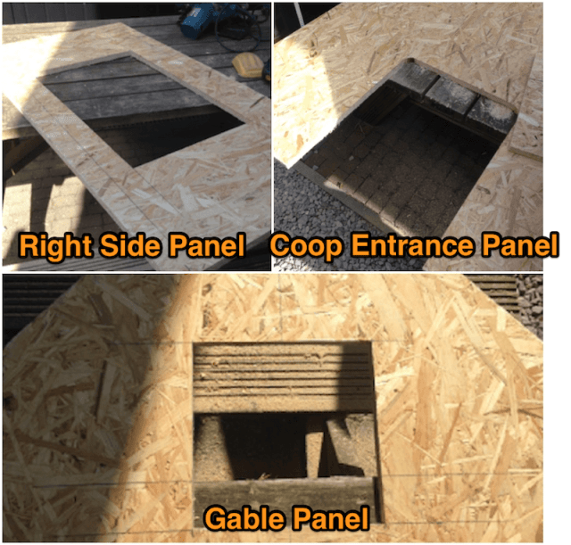 Openings in the Panels